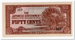 MALAYA,JAPANESE GOVERNMENT,50 CENTS,P.M4,1942,XF-AU - Malaysia