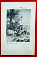 CPA Fantaisie/ Fable/ Le Loup Et L'agneau - Contes, Fables & Légendes