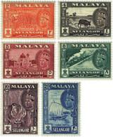 Ref. 595505 * NEW *  - MALAYSIA. SELANGOR . 1961. BASIC SET. SERIE BASICA - Selangor
