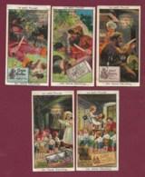 230320A - CHROMO CHOCOLAT TOBLER BERNE SUISSE - 5 Cartes Réclame LE PETIT POUCET Conte Série II - Chocolade