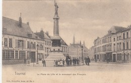 TOURNAI /  LA PLACE DE LILLE ET LE MONUMENT FRANCAIS / ANIMATION - Tournai