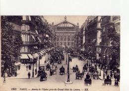 CPA - 75 - 161 -  PARIS  -  AVENUE DE L'OPERA PRISE DU GRAND HOTEL DU LOUVRE - N° 1263 - - Autres Monuments, édifices