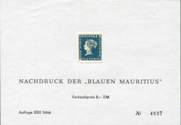 Ref. 599238 * NEW *  - MAURITIUS . 2000. NACHDRUCK DER BLAUEN MAURITIUS . NACHDRUCK DER BLAUEN MAURITIUS - Mauritius (1968-...)