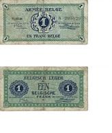 1 Franc Belge Armée Belge 1946 - [ 3] German Occupation Of Belgium