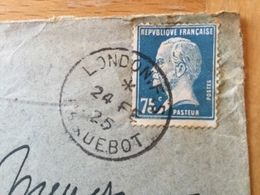 FL3540 France 1925 Lettre De London Paquebot!!!!!! - Brieven En Documenten