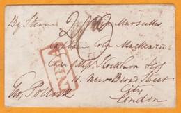 1845 - Enveloppe De Calcutta, Inde, GB Vers La Cité, Londres, Angleterre Par Steamer Via Marseille, France - ...-1852 Prephilately