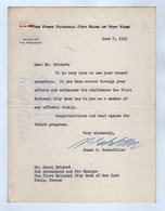 17.021 - 1955 - Lettre Signée De Mr James STILLMAN ROCKEFELLER President The First National City Bank Of NEW YORK - Autographs