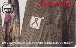 TARJETA DE SWAZILAND DE AIDS (PREVENCION SIDA) - Swaziland