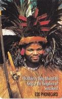 TARJETA DE SWAZILAND DE KING MSWATI III (REY) - Swaziland