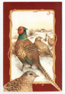 DOUBLE POSTCARD - MARJOLEIN BASTIN - BIRDS / PHEASANTS - USED - CHRISTMAS - LARGE FORMAT - Altri