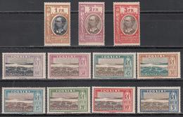 Oubangui-Chari, Taxe 1930  Yvert Nº  12 / 22 MH - Neufs