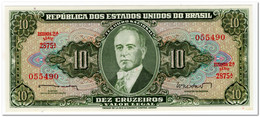 BRAZIL,10 CRUZEIROS,1962,P.177a,UNC - Brazilië