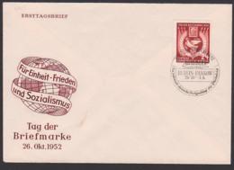 """Tag Der Briefmarke 1951 """"Für Einheit - Frieden Und Sozialismus"""" Berlin-Pankow - DDR"""