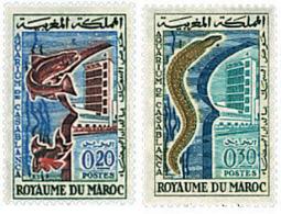Ref. 211866 * HINGED *  - MOROCCO . 1962. CASABLANCA AQUARIUM OPENING. INAUGURACION DEL ACUARIO DE CASABLANCA - Marokko (1956-...)