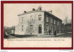 Souvenir De Plainevaux - La Grand'route,vue Prise De Chez Gilon - Petite Animation - Ed E.C N° 86 - 2 Scans - Nandrin