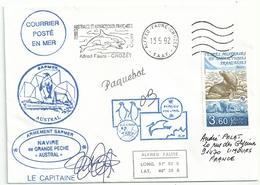 YT 159 Otarie à Fourrure - Posté à Bord De L'Austral - Paquebot - Satas D'Alfred Faure - Crozet - 13/05/1992 - French Southern And Antarctic Territories (TAAF)
