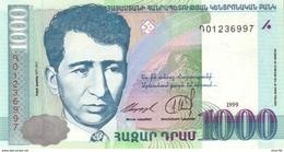 Armenia P.45 1000 Dram 1999 Unc - Arménie