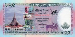 BANGLADESH 25 TAKA 2013 P-62 UNC-Commemorative Issue - Bangladesh