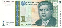 Tajikistan P.14   1   Somoni 1999 Unc - Tayikistán