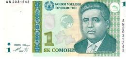 Tajikistan P.14a   1   Somoni 1999 Unc - Tayikistán
