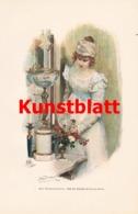 1798 Franz Simm Blumenfreundin Blumen Kunstblatt 1897 !! - Estampes
