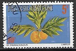 POLYNESIE   -   Service  -   1977 .  Y&T N° 4 Oblitéré .   Fruit  /  Uru. - Service