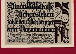 Allemagne 1 Notgeld 25 Pfenning Stadt Aschersleben Dans L 'état Lot N °5880 - [ 3] 1918-1933 : République De Weimar