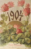"""""""Neujahr, Jahreszahl, Kleeblatt, Sonne"""" 1903, Prägekarte ♥ (4600) - Nieuwjaar"""