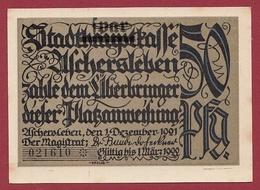 Allemagne 1 Notgeld 50 Pfenning Stadt Aschersleben Dans L 'état Lot N °5881 - [ 3] 1918-1933 : République De Weimar