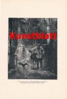 1802 Ziermann Auf Dem Vogelfang Jäger Kunstblatt 1897 !! - Estampes