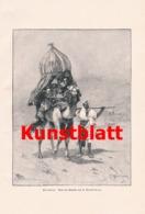 1803 Ajdukiewiez Karawane Araber Kamel Kunstblatt 1897 !! - Estampes
