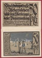 Allemagne 1 Notgeld 50 Pfenning Stadt Aschersleben Dans L 'état Lot N °5882 - [ 3] 1918-1933 : République De Weimar