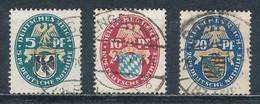 Deutsches Reich 375/77 Gestempelt Mi. 22,- - Oblitérés