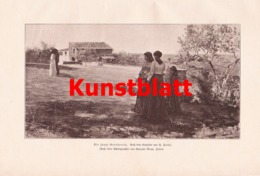 1804 Faldi Junge Gutsherrin Frauen Landschaft Kunstblatt 1897 !! - Estampes