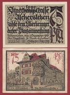 Allemagne 1 Notgeld 75 Pfenning Stadt Aschersleben Dans L 'état Lot N °5883 - [ 3] 1918-1933 : République De Weimar