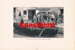 1806 Passini Venedig Melonenverkäufer Kunstblatt 1897 !! - Estampes