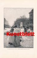 1807 Hans Herrmann Berlin Potsdamerplatz Frauen Kunstblatt 1897 !! - Estampes