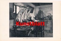 1810 Spring Neues Model Schiff Segelschiff Kunstblatt 1897 !! - Estampes
