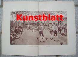 1812 Raffaele Sorbi Bocciaspieler Boccia Kunstblatt 1897 !! - Estampes