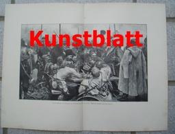 1815 Jlya Repin Kosaken Krieger Ukraine Russland Kunstblatt 1897 !! - Estampes
