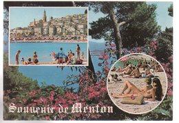REF 479 :  CPSM 06 MENTON Pin Up Seins Nus - Menton