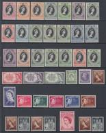 GRAN BRETAGNA 1953 COLONIE 1953 CORONATION OMNIBUS 106 VALORI MLH GIRO COMPLETO - Gran Bretagna (vecchie Colonie E Protettorati)