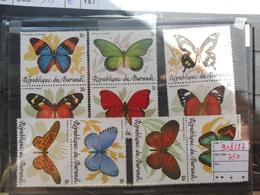 Burundi Serie 918/27 Papillons / Vlinders Neuf ** Bonne Serie Parfait Etat - 1980-89: Neufs