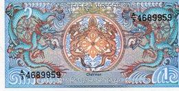 BHUTAN 1 NGULTRUM 1986 P-12b UNC - Bhutan