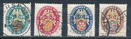 Deutsches Reich 398/401 Gestempelt Mi. 160,- - Oblitérés