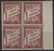 FR/TAX 21 - FRANCE N° 40A Neuf** Bloc De 4 BDF - Taxes