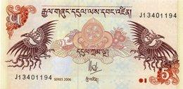 BHUTAN 5 NGULTRUM 2006  P-28a UNC - Bhutan
