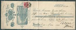 74 Op Reçu (15,20 Fr) Gestempeld BRUXELLES QUITTANCES DEPOT - 15 Mar 1909 - Maison De Blanc - E Lefebvre - 1905 Thick Beard