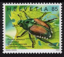Switzerland - 2020 - International Year Of Plant Health - Japanese Beetle - Mint Stamp - Nuovi