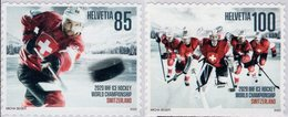 Switzerland - 2020 - World Ice Hockey Championship - Mint Self-adhesive Stamp Set - Nuevos
